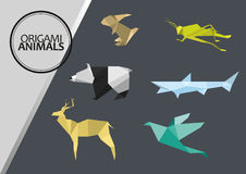 Animaux d'Origami illustration de vecteur