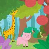Animaux dans la forêt Photo libre de droits