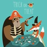 Animaux dans le costume de Halloween illustration libre de droits