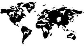 Animaux dans le monde Photo stock