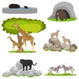 Animaux dans le zoo, une ménagerie en plein air, animaux dans une cage Images libres de droits