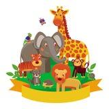 Animaux de bande dessinée de vecteur - zoo Images stock