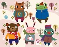 Animaux de dessin animé Photos libres de droits