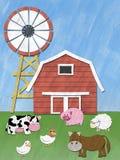 Animaux de ferme dans le domaine Photographie stock libre de droits