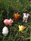 Animaux de ferme de jouet Image stock