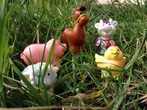 Animaux de ferme des jouets du bébé Photo stock