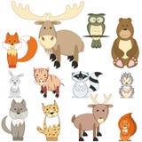 Animaux de forêt Images libres de droits