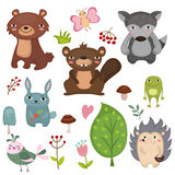 Animaux de forêt illustration stock