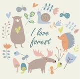 Animaux de forêt Image stock