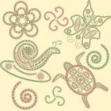 Animaux de henné de vecteur Images stock