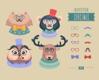 Animaux de hippie de Noël Illustration de vecteur Image stock