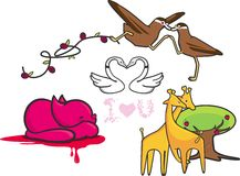 Animaux de Lovey Dovey illustration de vecteur