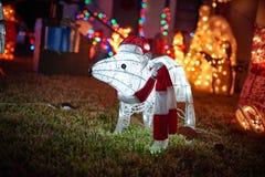Animaux de lumières de Joyeux Noël Photos libres de droits