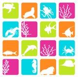 Animaux de mer illustration libre de droits