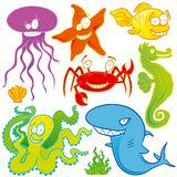 Animaux de mer Photo libre de droits