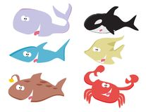 Animaux de mer illustration stock