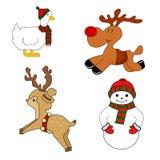 Animaux de Noël Image libre de droits
