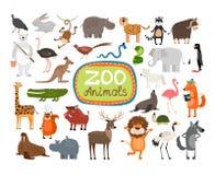 Animaux de zoo de vecteur Photographie stock libre de droits