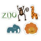 animaux drôles du zoo illustration de vecteur