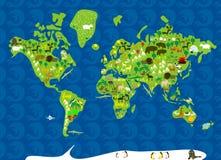 Animaux du monde dans le vecteur Photos libres de droits