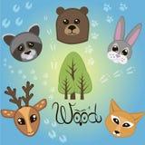 Animaux en bois Photo libre de droits
