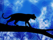 Animaux et chat de Tiger On Tree Indicates Jungle Photographie stock