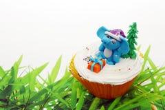 Animaux mignons de gâteau de cuvette Photographie stock libre de droits
