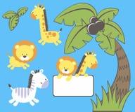 Animaux mignons de jungle Photo stock