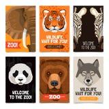 Animaux Mini Posters Set Photo libre de droits