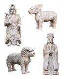 Animaux mythiques chinois, soldat, roi, d'isolement images libres de droits