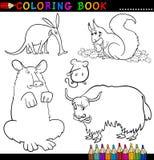 Animaux pour le livre ou la page de coloration Photographie stock libre de droits