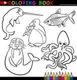 Animaux pour le livre ou la page de coloration Photos stock