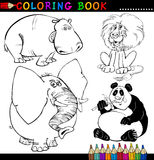 Animaux pour le livre ou la page de coloration Photo libre de droits
