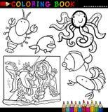 Animaux pour le livre ou la page de coloration Photo stock