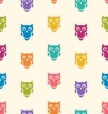 Animaux sans couture Owl Pattern Images libres de droits