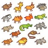 animaux sauvages Illustration de Vecteur