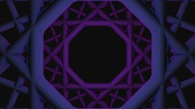 Animazione astratta del tunnel geometrico senza cuciture di turbine animazione Spirale di turbine modellata geometrica sul nero illustrazione vettoriale