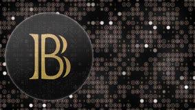 Animazione astratta della rete digitale di crittografia di valuta cripto del blockchain dei bitshares del blackcoin di Bitcoin pe royalty illustrazione gratis