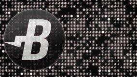 Animazione astratta della rete digitale di crittografia di valuta cripto del blockchain dei bitshares del burstcoin di Bitcoin pe illustrazione vettoriale