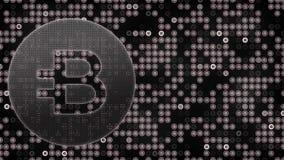 Animazione astratta della rete digitale di crittografia di valuta cripto del blockchain dei bitshares del burstcoin di Bitcoin pe royalty illustrazione gratis
