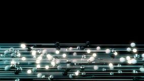 Animazione astratta delle sfere leggere collegate royalty illustrazione gratis