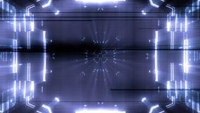 Animazione astratta futuristica del fondo delle luci video d archivio