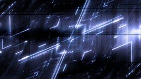 Animazione astratta futuristica del fondo delle luci archivi video