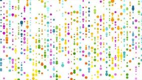 Animazione astratta variopinta del video dei cerchi dei punti video d archivio