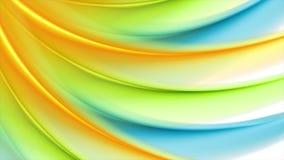 Animazione astratta variopinta del video del profilo ondulato video d archivio