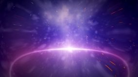 Animazione blu della galassia video d archivio