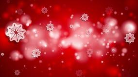 Animazione brillante astratta rossa luminosa del video di Natale stock footage