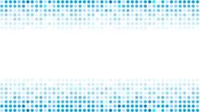 Animazione brillante blu astratta del video dei cerchi illustrazione di stock