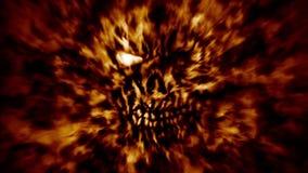 Animazione capa bruciante dello zombie royalty illustrazione gratis