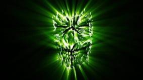 Animazione capa misera del mostro arrabbiato verde royalty illustrazione gratis